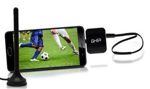 Sintonizador Tv Celular Tablet Android 2 Antenas Otg Hd Ghia