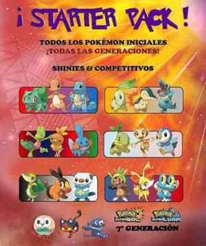 Starter Pack - Pokémon Iniciales - Ultra Sol / Luna 3ds!