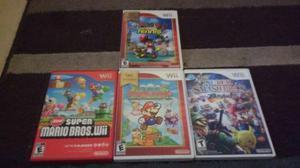 4 Juegos Para Nintendo Wii - Usados- En Excelentes Condicion