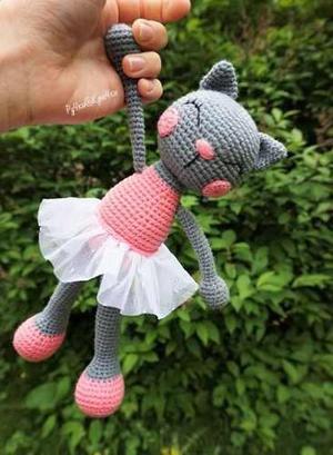 Amigorumi Gatita Ballerina Muñeca Tejido Crochet Amigorumis
