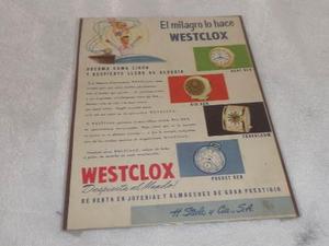 Antigua Publicidad De Relojes Despertadores Westclox Steelco