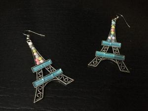 Aretes Arracadas Torre Eiffel Paris Joyería De Fantasía