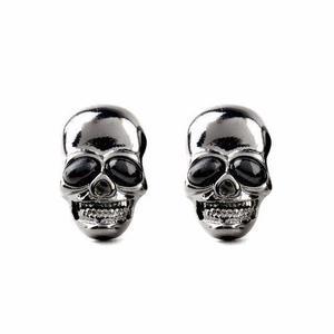 Aretes De Calavera Góticos Metaleros Cráneos