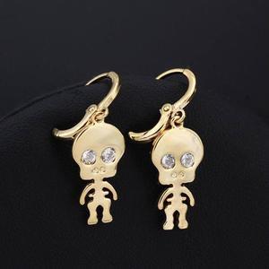 Aretes De Oro Laminado De 18k Esqueleto, Envío Gratis
