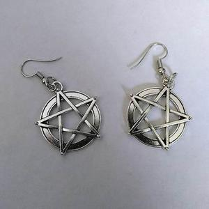 Aretes Pentagrama Gótico Wicca Witch Rocker