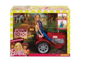 Barbie Granjera Y Su Tractor Con Accesorios Y Mov