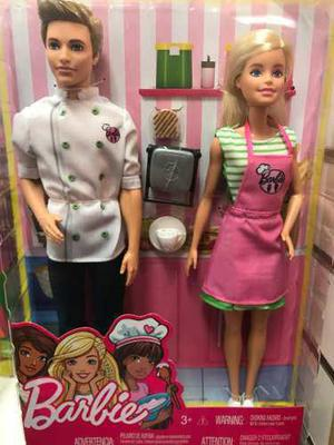 Barbie Set De Dos Muñecos Chef Barbie Y Ken