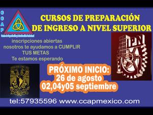 CURSOS PARA INGRESO A NIVEL SUPERIOR CCAP
