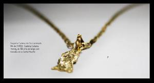 Cadena Con Medalla De La Santa Muerte + Esclava 3 Oros 14 K
