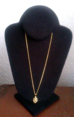 Cadena Y Dije Nuestra Señora Aparecida Chapa Oro 18 Kt 44