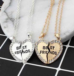 Collar Best Friends Mejores Amigos Corazon