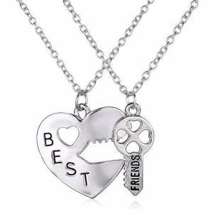 Collar Dijes Best Friends Mejores Amigos Corazón Partido