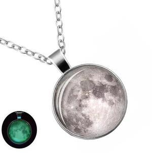 Collar Luna Brilla Envio Gratis Oscuridad Llena Moon Platea2