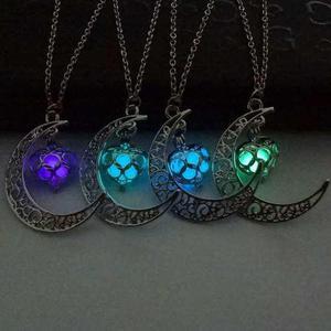 Collar Luna Corazon Brilla Oscuridad Mejores Amigos