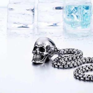Collar Skull Calavera Cráneo Acero Inoxidable Envío