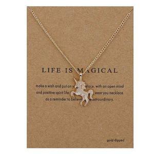 Collar Unicornio Envio Gratis Dije Cadena Pegaso Dorado