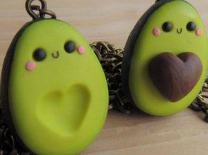 Collares Aguacates Mitades Kawaii Pareja Amor