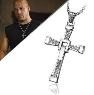 Crucifijo Toretto Y Cadena Acero Inoxidable Rapido Y Furioso