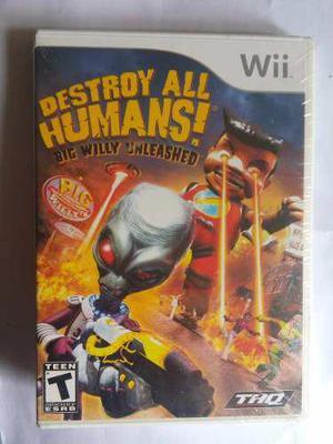 Destroy All Humans! Big Willy Unleashed Nintendo Wii Nuevo