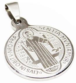Dije Medalla San Benito De Acero Inoxidable Religion