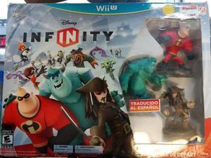 Disney Infinity Wii U Set Con Figuras Y Juego