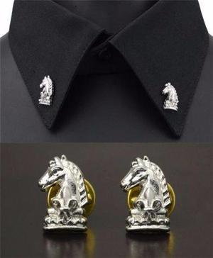 Elegantes Broches De Caballo, Para Cuello De Camisa