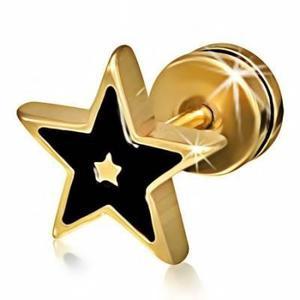 Expansor Falso De Acero Inox Dorado Diseño Multi Estrella