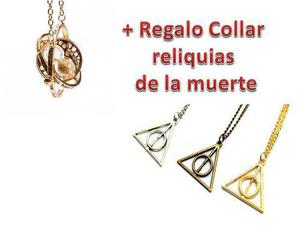 Giratiempo Harry Potter + 2 Collar Reliquias De La Muerte