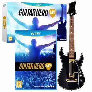 Guitar Hero Live Wii U Nuevo Sellado Nintendo Guitarra + Jgo