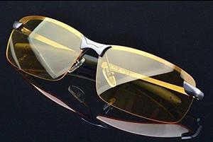 Hd Noche Visión Gafas Conducir Aviador Gafas De Sol Nuevo U