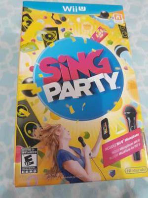 Juego De Wiiu Sing Party Incluye 1 Microfono