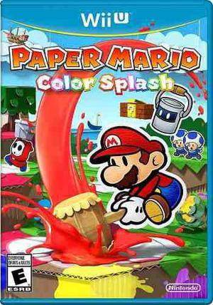 Juego Paper Mario Color Splash Para Wii U - Nuevo Y Sellado