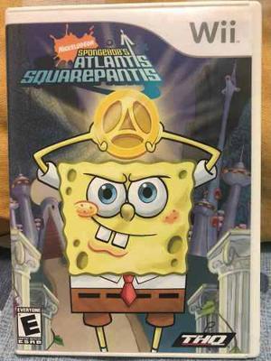 Juego Para Wii Bob Esponja Atlantis Squarepantis