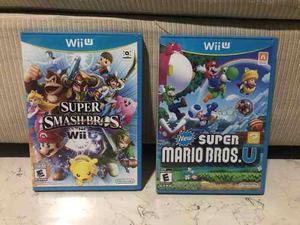 Juegos Wii U Super Smash Bros + Super Mario Bros