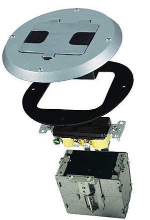 Kit-hubbell Raco 6239ss Ronda De Acero Inoxidable Caja De Su