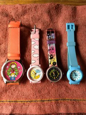 Lote de 4 relojes para niña