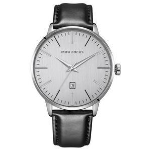 Mini Focus Relojes De Moda Cuero Genuino Hombres 3atm