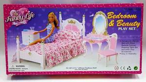 Mueble Para Casa De Muñeca Barbie Recamara Tocador 2319