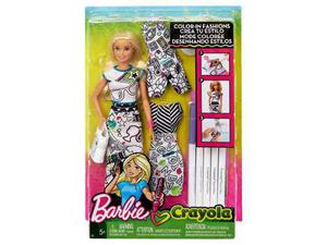 Muñeca Barbie Crayola Crea Tu Estilo / Color - In Fashions