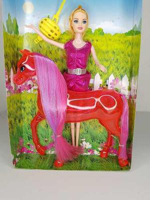 Muñeca Tipo Barbi Con Caballo Y Accesorios Envio Incluido