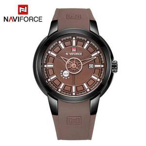 Naviforce Nf9107 Lujo Marca Reloj Reloj Muñeca Cuarzo Mascu