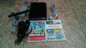 Nintendo Wii Completo New Super Mario Y Wii Play
