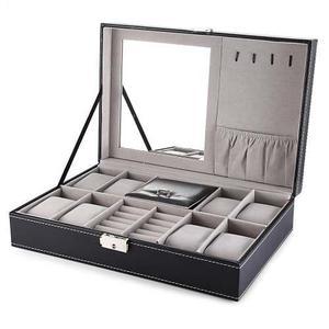 Organizador De Joyas Caja Para 8 Relojes Multifuncional
