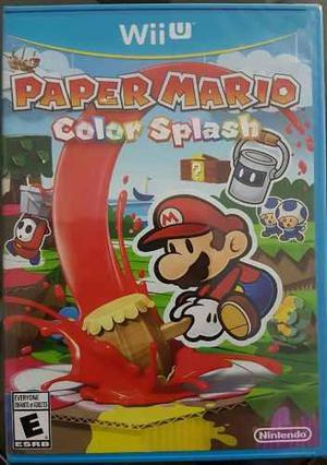 Paper Mario Color Splash Para Wii U Nuevo
