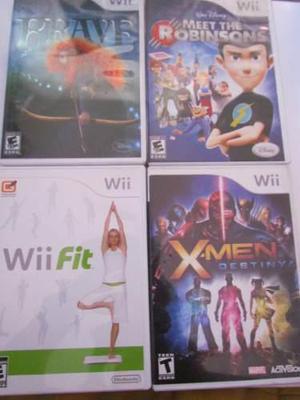 Paquete 4 Juegos Wii, Xmen Destiny Wii Fit Brave Robinsons