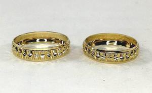 Par Argollas Matrimoniales En Oro Macizo De 10k