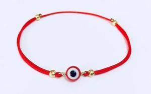 Pulsera Hilo Rojo Ojo Turco Rojo Protección