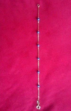 Pulsera con Perlas sinteticas Chapa Oro 18 Kt 18 cms Nueva