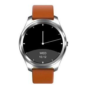 Reloj Inteligente Caratula Negra Correa Cafe Hombres
