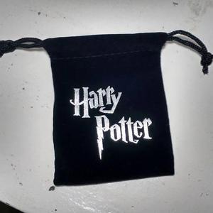 Saco De Tercipelo Negro Harry Potter Para Joyería O Regalo